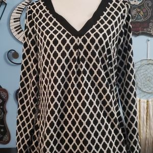 WHBM Long Sleeve Blouse sz 8, Thrifted